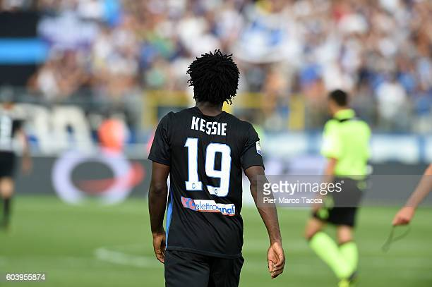 Franck Kessie of Atalanta BC walks during the Serie a match between Atalanta BC and FC Torino at Stadio Atleti Azzurri d'Italia on September 11 2016...