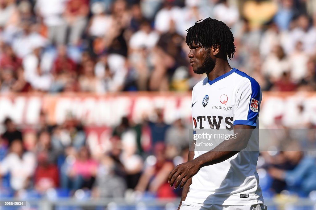 Franck Kessie of Atalanta during the italian Serie A match between Roma and Atalanta at the Olympic Stadium, Rome, Italy on 15 April 2017.