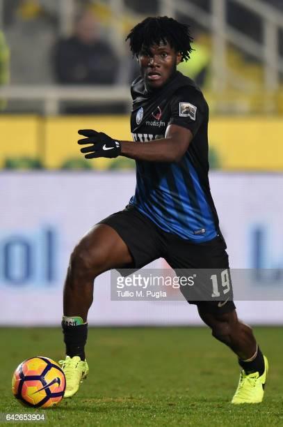 Franck Kessie of Atalanta in action during the Serie A match between Atalanta BC and FC Crotone at Stadio Atleti Azzurri d'Italia on February 18 2017...