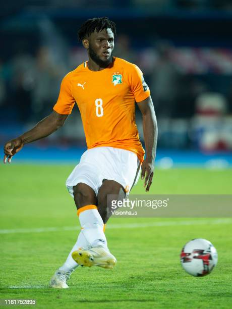 Franck Kessie of Ivory Coast during the 2019 Africa Cup of Nations quarter-final match between Ivory Coast and Algeria at Suez Stadium on July 11,...