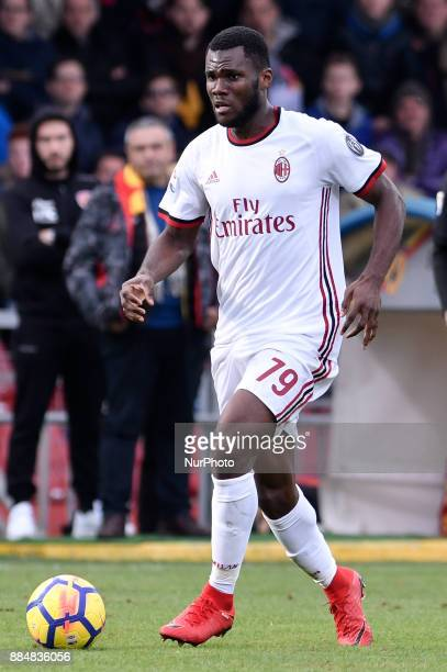 Franck Kessie of Milan during the Serie A match between Benevento and Milan at Ciro Vigorito Stadium Benevento Italy on 3 December 2017