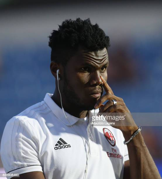 Franck Kessie of Milan during the Serie A match between FC Crotone and AC Milan on August 20 2017 in Crotone Italy