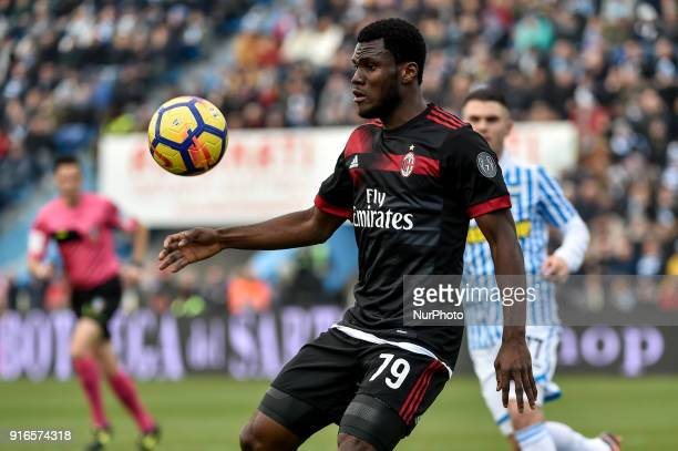 Franck Kessie of Milan during the Serie A match between SPAL and AC Milan at Paolo Mazza Stadium Ferrara Italy on 10 February 2018