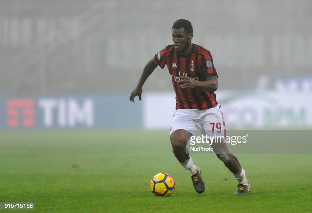 Franck Kessie of Milan player during the match valid for Italian Football Championships Serie A 20172018 between AC Milan and SS Lazio at San Siro...