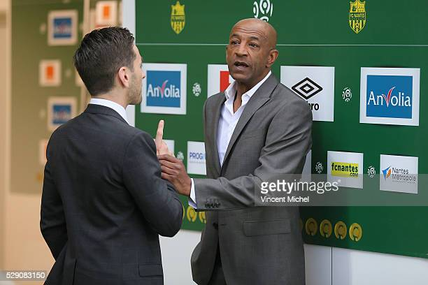 Franck Kita and Jose Toure of Nantes during the Football french Ligue 1 match between FC Nantes and SM Caen at Stade de la Beaujoire on May 7 2016 in...