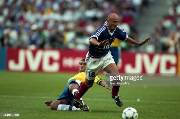 RIVALDO / Franck LEBOEUF France / Bresil Finale Coupe du Monde 1998 Photo Alain Gadoffre / Icon Sport