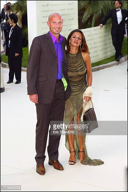Franck Leboeuf and his wife Cathy at Laureus awards in Monaco city Monaco on May 19 2003
