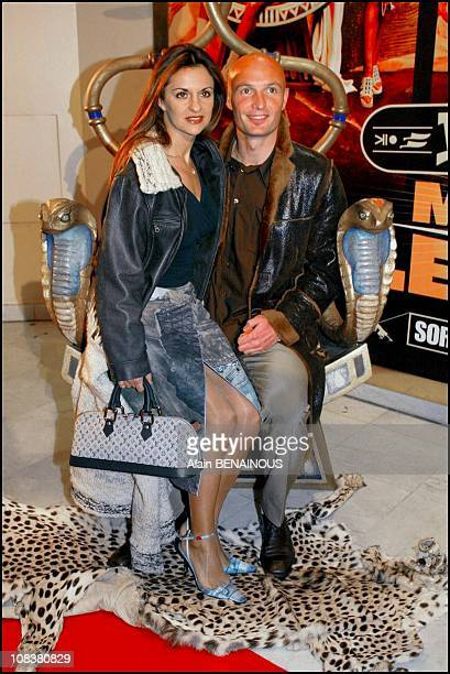 Franck Leboeuf and wife in Paris France on January 28 2002