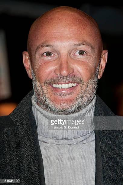 Franck Leboeuf arrives at 'Rhum Express' Paris premiere at Cinema Gaumont Marignan on November 8 2011 in Paris France