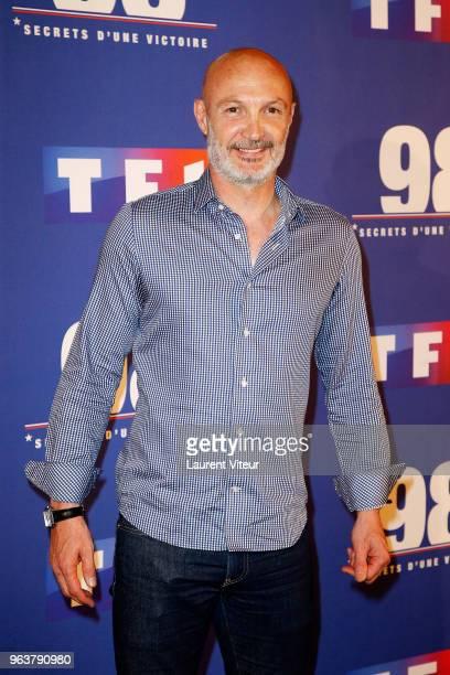 Franck Leboeuf attends 398Secret d'une Victoire' Paris Premiere at Gaumont Champs Elysees on May 30 2018 in Paris France