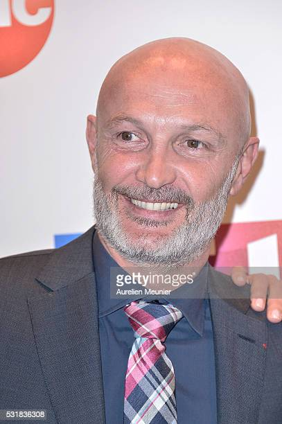 Franck Leboeuf attends the UEFA press conference photocall at TF1 on May 17 2016 in Paris