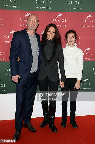 Franck Leboeuf Betty Leboeuf and their daughter attend day 4 of the Gucci Paris Masters 2013 at Paris Nord Villepinte on December 8 2013 in Paris...