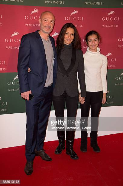 Franck Leboeuf Chrislaure and Djenae attend the Gucci Grand Prix during the Gucci Paris Masters 2013 in Paris