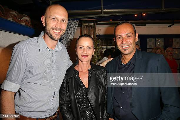 Franck Leboeuf Florence Serge Benitha attend the Imaginarium And SpLAshPR Agency Event at The Little Door on February 24 2016 in Santa Monica...