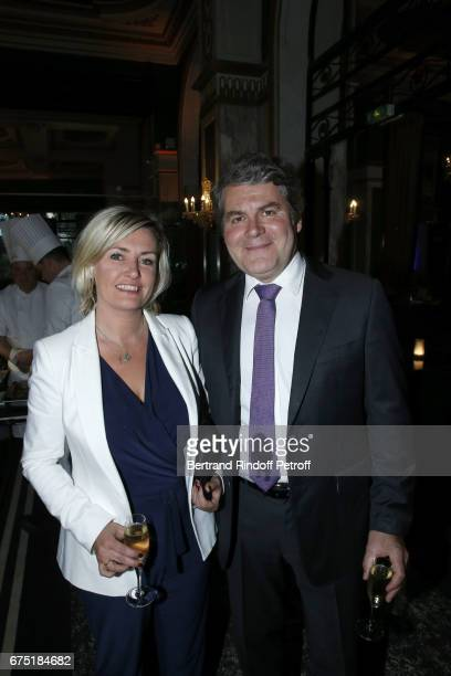 Franck Louvrier and his wife Sophie Louvrier attend ReOpening Ceremony of Hotel Hermitage Barriere on April 29 2017 in La Baule France