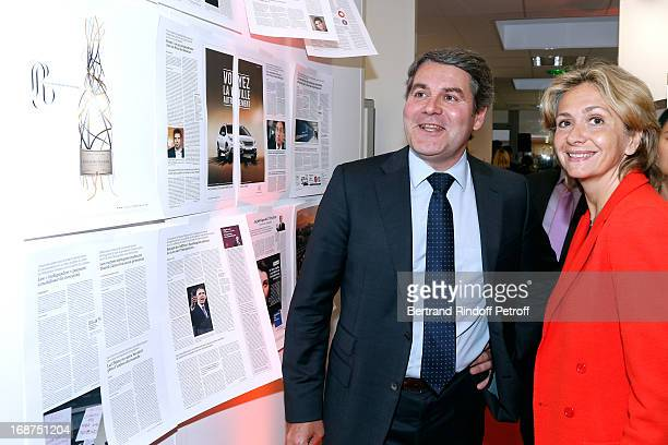 Franck Louvrier and Valerie Pecresse attend 'L'Opinion' Newspaper Launch Party on May 14 2013 in Paris France