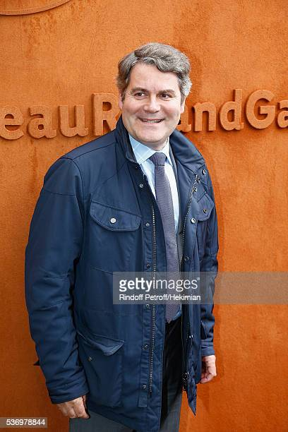 Franck Louvrier attends the French Tennis Open at Roland Garros on June 1 2016 in Paris France