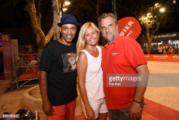 DJ Franck Mohamed Moretta from Kool And The Gang Senequier President Thierry Bourdoncle and his wife Ariane de Senneville attend the Trophee...