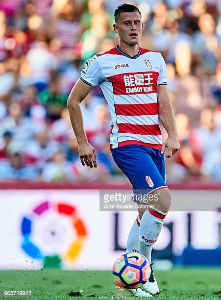 Franck Pascal Tabanou of Granada CF in action during the match between Granada CF vs SD Eibar as part of La Liga at Nuevo los Carmenes Stadium on...