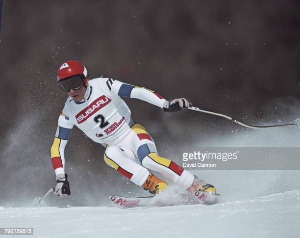 Franck Piccard of France skiing during the International Ski Federation Men's Super Giant Slalom at the FIS Alpine World Ski Championship on 2...