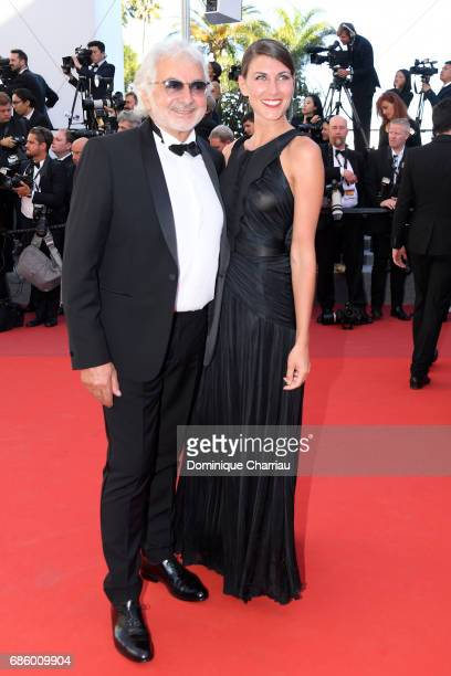 Franck Provost and a guest attend the '120 Beats Per Minute ' screening during the 70th annual Cannes Film Festival at Palais des Festivals on May 20...