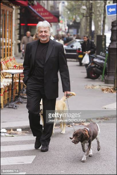 Franck Provost and his young dog Arius