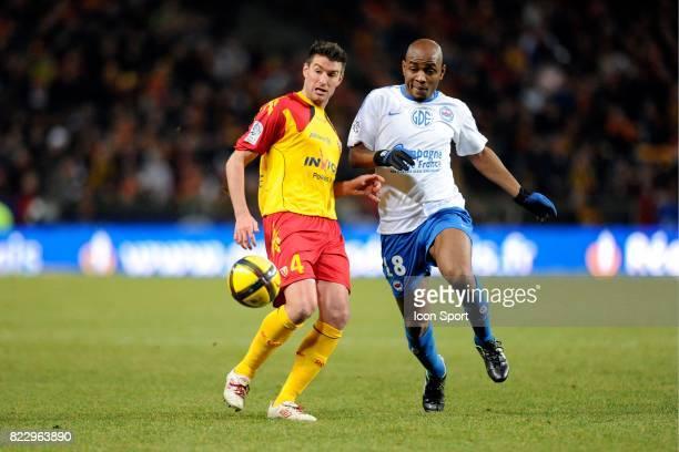 Franck QUEUDRUE / Emile TRAORE Lens / Caen match en retard de la 18eme journee de Ligue 1