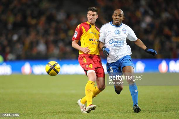 franck QUEUDRUE Kandia TRAORE Lens / Caen match en retard de la 18eme journee de Ligue 1