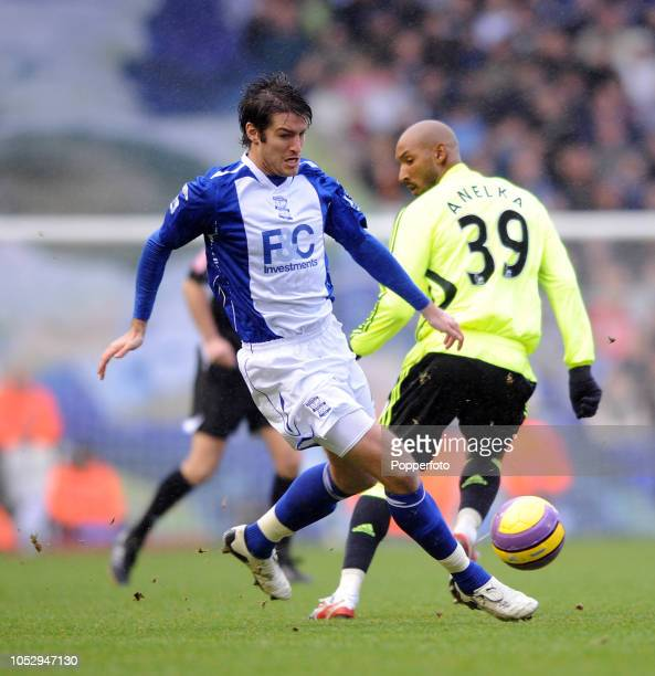 Franck Queudrue of Birmingham City in action during the Barclays Premier League match between Birmingham City and Chelsea at St Andrews on January 19...