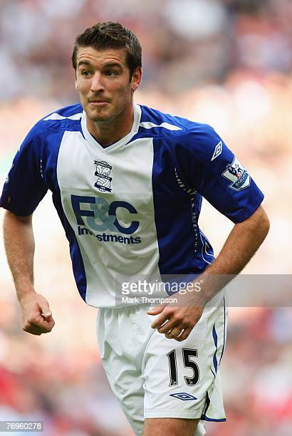 Franck Queudrue of Birmingham City in action during the Barclays Premier League match between Liverpool and Birmingham City at Anfield on September...