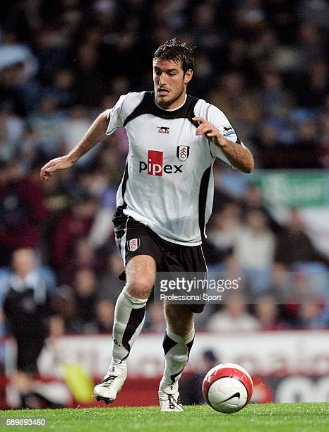 Franck Queudrue of Fulham in action during the Barclays Premiership match between Aston Villa and Fulham at Villa Park on October 21 2006 in...