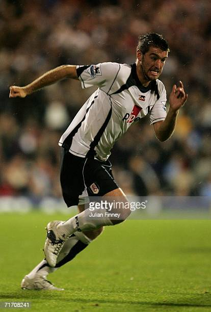 Franck Queudrue of Fulham runs during the Barclays Premiership match between Fulham and Bolton Wanderers at Craven Cottage on August 23 2006 in...