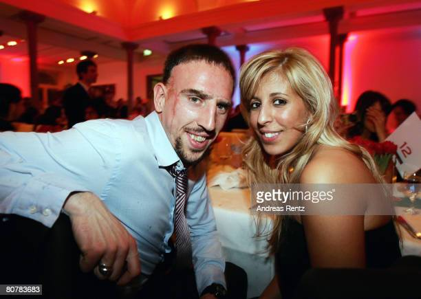 Franck Ribery and his wife Wahiba Ribery attend the Bayern Munich champions party after the DFB Cup Final match between Borussia Dortmund and FC...