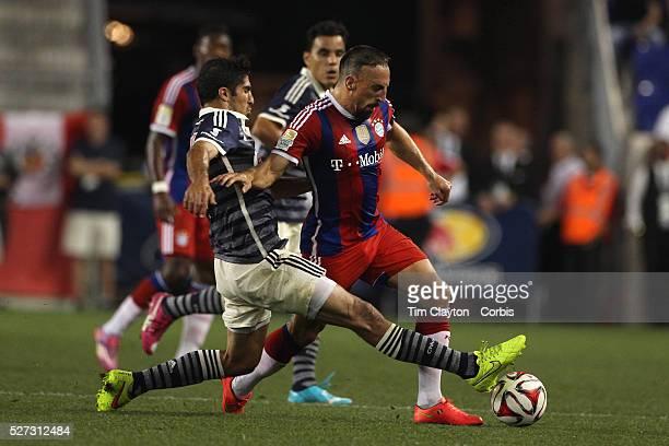 Franck Ribery, , Bayern Munich, is fouled by Jair Pereira, CD Chivas Guadalajara, during the FC Bayern Munich vs Chivas Guadalajara, friendly...