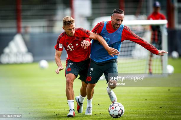 Kingsley Coman is seen during a training session on August 14 2018 in Munich Germany