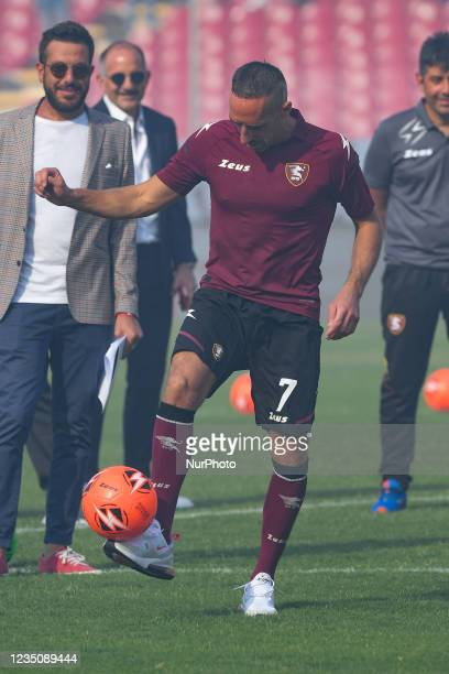 Franck Ribery during his presentation as the new signing for US Salernitana 1919 at Stadio Arechi, Salerno, Italy on 6 September 2021.