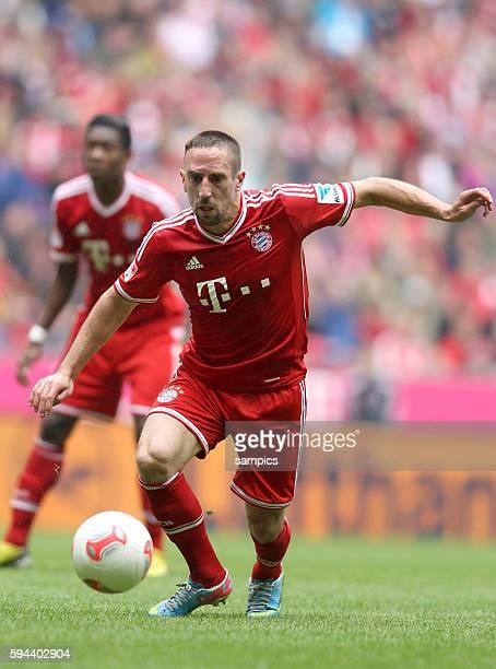 Franck RIBERY FC Bayern München 1 Bundesliga Fussball FC Bayern München - FC Augsburg 3:0 Deutscher Fussball Meister 2013 Feierlickeiten Saison 2012...