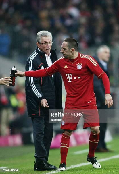 Franck RIBERY FC Bayern München mit Trainer Jupp Heynckes FC Bayern München 1 Bundesliga Fussball FC Bayern München Hannover 96 50 Saison 2012 / 2013