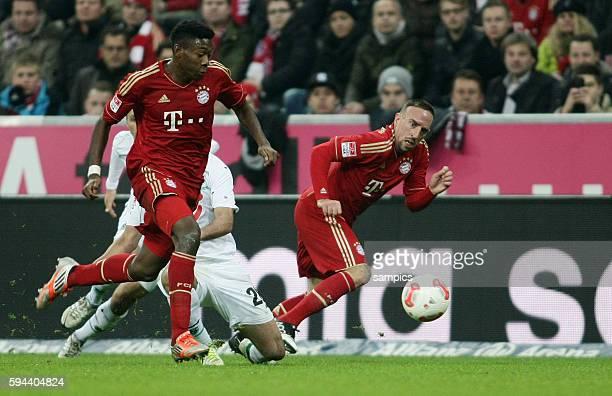 Franck RIBERY FC Bayern München und David ALABA FC Bayern München 1 Bundesliga Fussball FC Bayern München Hannover 96 50 Saison 2012 / 2013