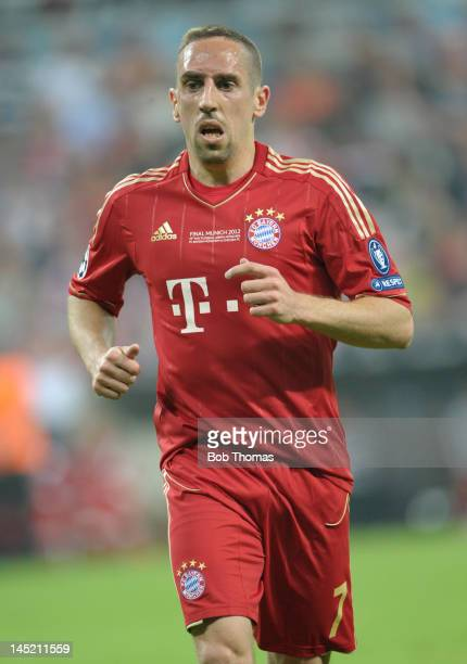 Franck Ribery in action for Bayern Munich during the UEFA Champions League Final between FC Bayern Munich and Chelsea at the Fussball Arena Munich on...