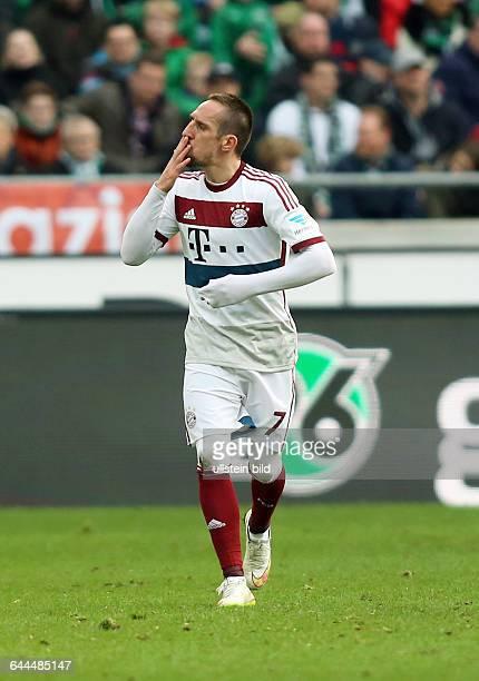Franck Ribery, Jubel, Freude, Emotion nach Tor zum 1:3 , Hannover 96 - FC Bayern Muenchen München, Bundesliga DFL, Sport, Fußball Fussball, HDI Arena...