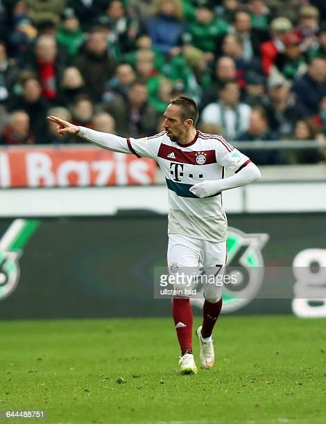 Franck Ribery, Jubel, Freude, Emotion nach Tor zum 1:3, Hannover 96 - FC Bayern Muenchen München, Bundesliga DFL, Sport, Fußball Fussball, HDI Arena...