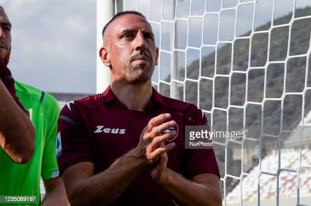 Franck Ribery looks on during his presentation as the new signing for US Salernitana 1919 at Stadio Arechi, Salerno, Italy on 6 September 2021.