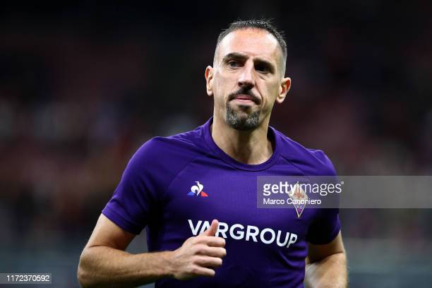 Franck Ribery of Ac Fiorentina looks on before the Serie A match between Ac Milan and Acf Fiorentina Acf Fiorentina wins 31 over Ac Milan