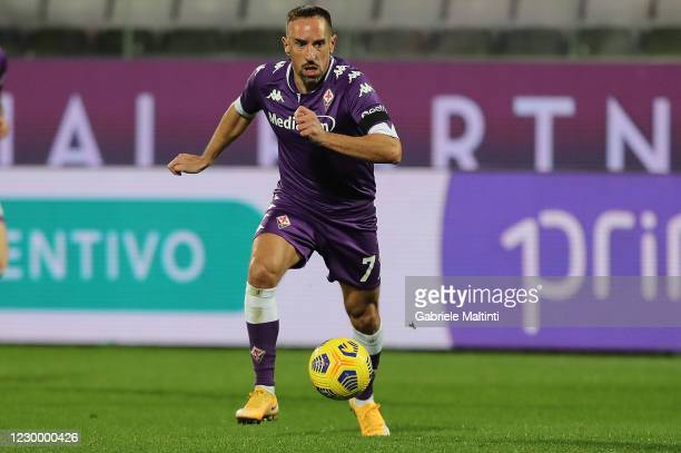 Franck Ribery of ACF Fiorentina in action during the Serie A match between ACF Fiorentina and Genoa CFC at Stadio Artemio Franchi on December 7, 2020...