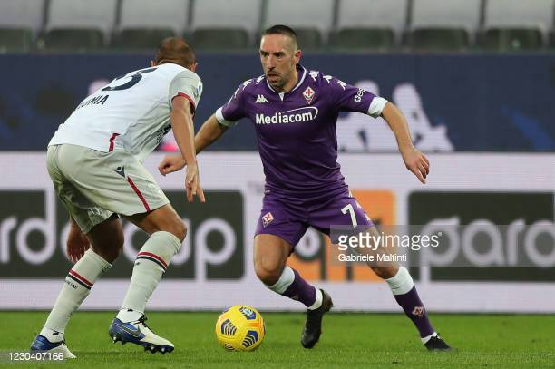 Franck Ribery of ACF Fiorentina in action during the Serie A match between ACF Fiorentina and Bologna FC at Stadio Artemio Franchi on January 3, 2021...