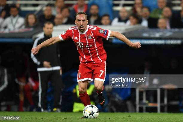 Franck Ribery of Bayern Muenchen in action during the UEFA Champions League Semi Final Second Leg match between Real Madrid and Bayern Muenchen at...