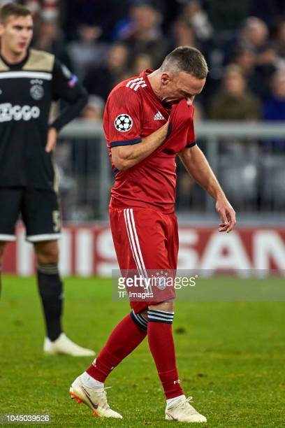 Franck Ribery of Bayern Muenchen looks dejected during the Group A match of the UEFA Champions League between Borussia Dortmund and AS Monaco at...