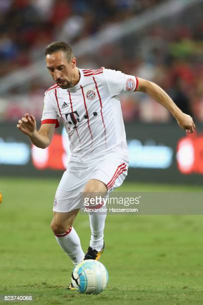 Franck Ribery of Bayern Muenchen runs with the ball during the International Champions Cup 2017 match between Bayern Muenchen and Inter Milan at...