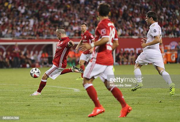 Franck Ribery of Bayern Muenchen scores his first goal during the International Champions Cup between FC Bayern Muenchen and AC Milan of AUDI Summer...